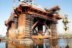 Riparazione dell'impianto offshore Fotografie Stock Libere da Diritti