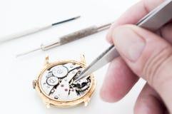 Riparazione dell'orologio Immagine Stock