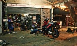 Riparazione della motocicletta Immagine Stock