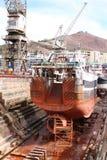 Riparazione della nave Immagini Stock