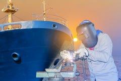 Riparazione navale della saldatura immagine stock