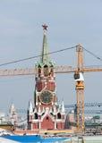 Riparazione nel Cremlino ristrutturazione Spasskaya Immagine Stock Libera da Diritti