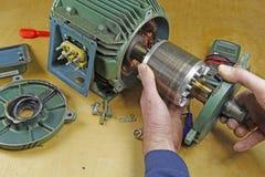 Riparazione trifase del cuscinetto del motore asincrono Fotografia Stock