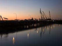 Riparazioni del ponte Fotografia Stock
