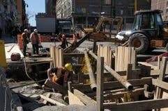Riparazioni dell'infrastruttura Fotografie Stock