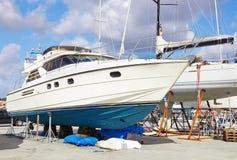 Riparazioni della barca Fotografie Stock
