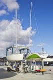 Riparazioni della barca Fotografie Stock Libere da Diritti