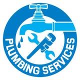 Ripari il simbolo dell'impianto idraulico Fotografie Stock Libere da Diritti
