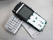 Ripari il telefono del mobil fotografia stock libera da diritti