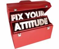 Ripari il vostro atteggiamento regolano la buona cassetta portautensili positiva dell'Outlook Immagini Stock Libere da Diritti