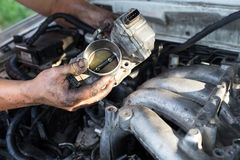Ripari l'automobile Fotografia Stock