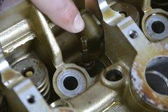 Ripari le componenti del motore immagine stock libera da diritti