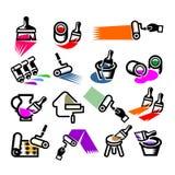 Ripari le icone. Vector l'illustrazione Fotografia Stock