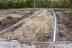 Ripari le piste delle pietre per lastricati nel parco Fotografia Stock Libera da Diritti
