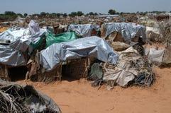 Ripari nell'accampamento del Darfur Immagine Stock