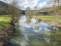 Riparian scenery in Hohenlohe Stock Images