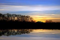 Riparian Sunset stock photos