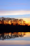 Riparian Sunset Stock Photos