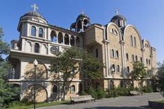 Riparo con la chiesa dell'annuncio del vergine benedetto, san Spyridon dell'alloggio il Wonderworker, cappella del cipriota della Fotografia Stock Libera da Diritti
