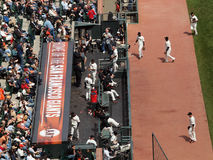 Riparo dei San Francisco Giants Fotografie Stock