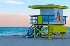 Riparo del bagnino a Miami Fotografia Stock Libera da Diritti