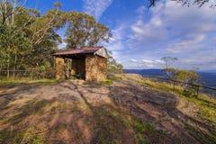 Riparo dell'allerta della montagna, montagne blu, Australia Fotografia Stock Libera da Diritti