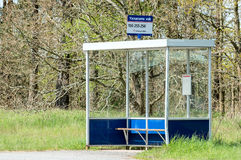 Riparo della fermata dell'autobus Fotografia Stock