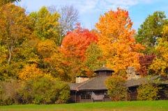 Riparo della sosta in autunno Fotografia Stock