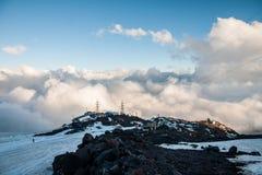 Riparo di Garabashi, nuvole fotografia stock