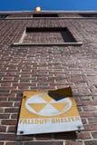 Riparo di precipitazione radioattiva fotografia stock