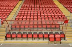 Riparo e sedili di calcio Fotografia Stock Libera da Diritti
