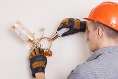 Riparo elettrico di riparazioni Fotografia Stock Libera da Diritti