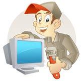Riparo il vostro PC illustrazione di stock