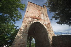 Ripatransone Porta di Muro Antico, XVI århundrade Arkivbild