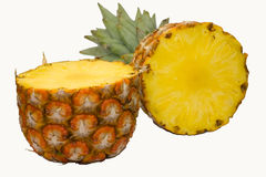 Ripe ananas white background Stock Photo