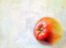 Ripe apple fruit closeup on a grunge background Royalty Free Stock Images