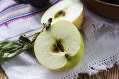Ripe apple half Royalty Free Stock Photo