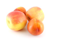 Ripe apple and peaches Stock Photography