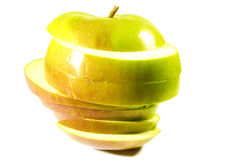 Ripe apple sliced layers Royalty Free Stock Photos