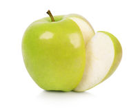 Ripe apple with stem Royalty Free Stock Photography