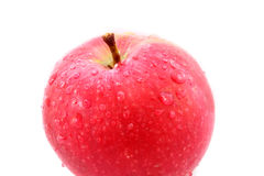 Ripe apple on a white Stock Images