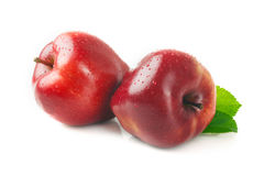 Free Ripe Apple With A Leaf On A White. Stock Photography - 54800482