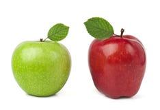 Ripe apples. Fresh ripe apples  on white Royalty Free Stock Images