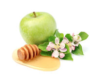 Ripe apples with honey Royalty Free Stock Photography