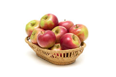 Ripe apples isolated on a white background Stock Photography