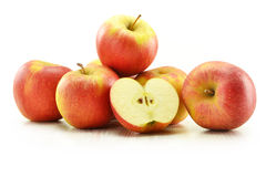 Ripe apples  on white Royalty Free Stock Photography