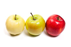 Ripe apples on a white background Royalty Free Stock Photo