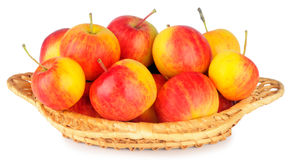 Ripe apples in wicker dish Royalty Free Stock Image