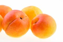 Ripe apricot closeup Royalty Free Stock Photos