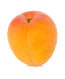 Ripe apricot fruit isolated on white Royalty Free Stock Images